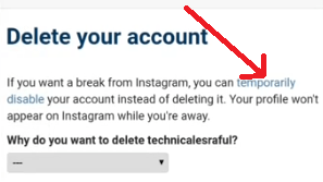 instagram account deactivate kaise kare