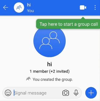 signal app me group kaise banaye