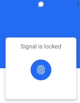 signal app me fingerprint kaise lagaye
