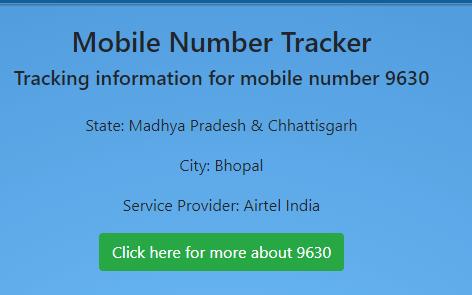 mobile number track