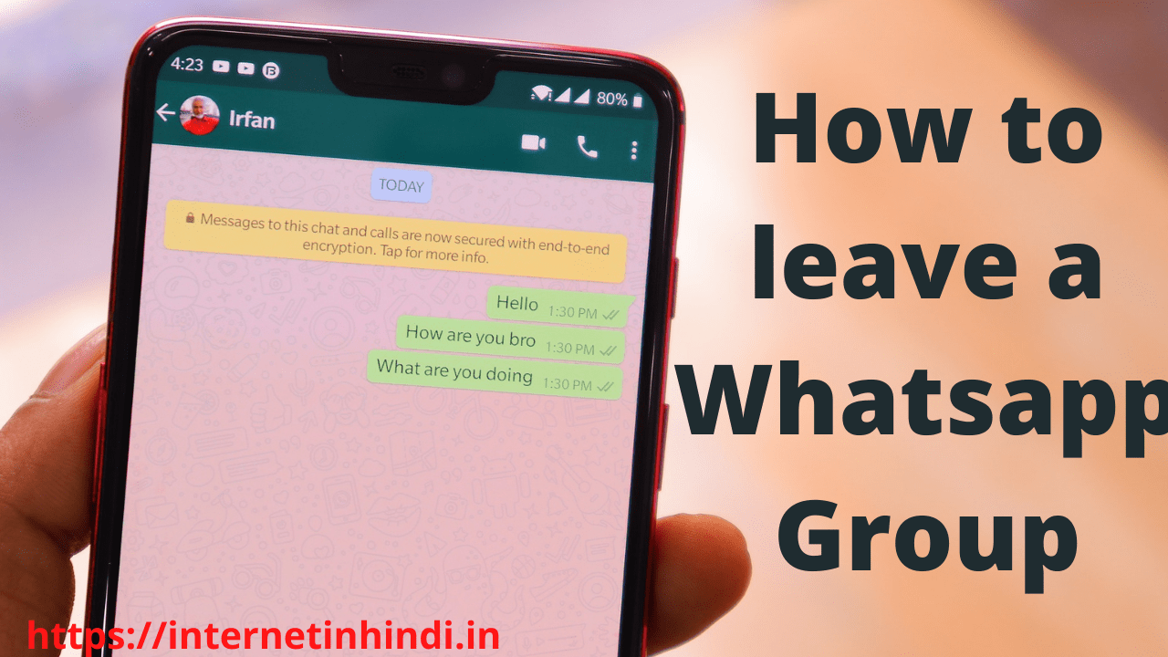how to leave whatsapp group