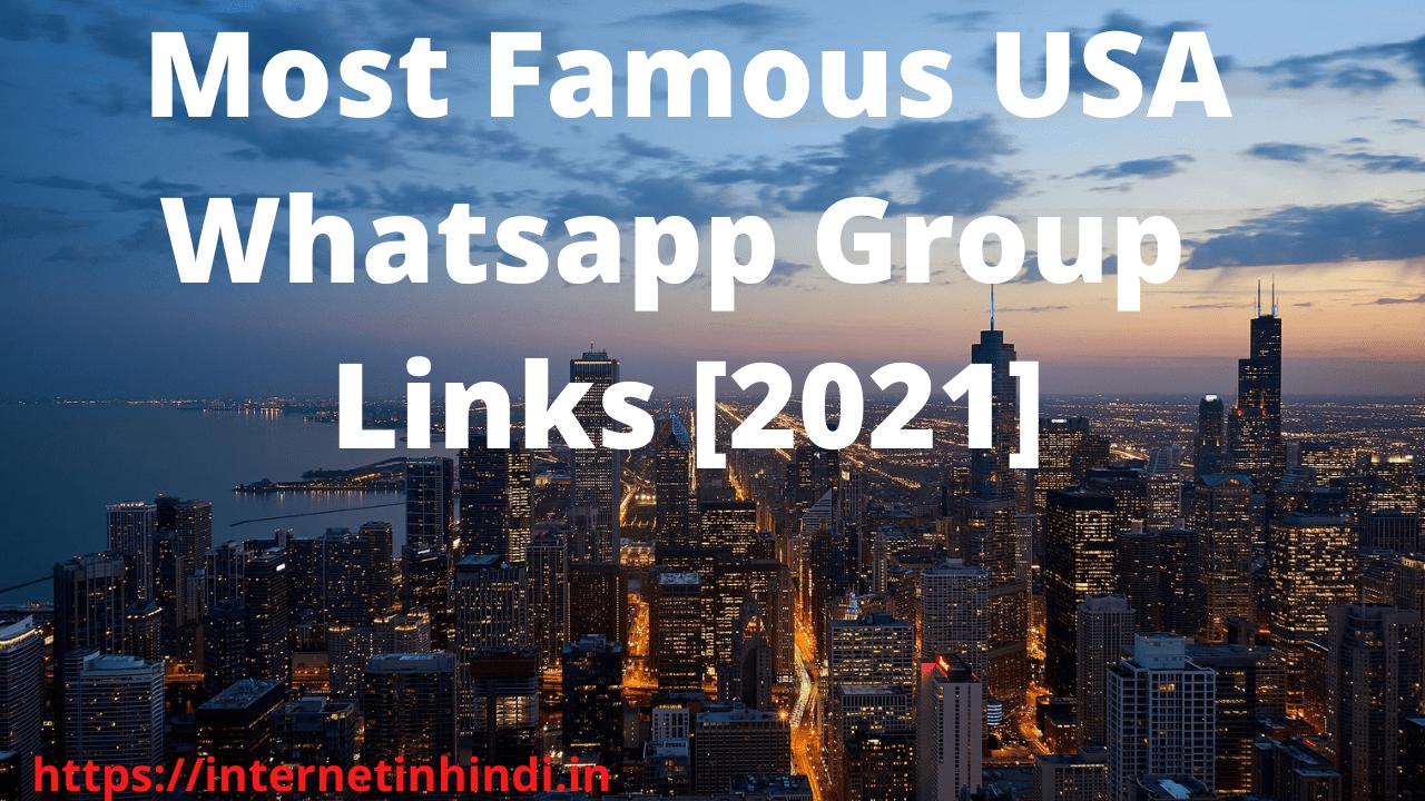 USA WhatsApp Group