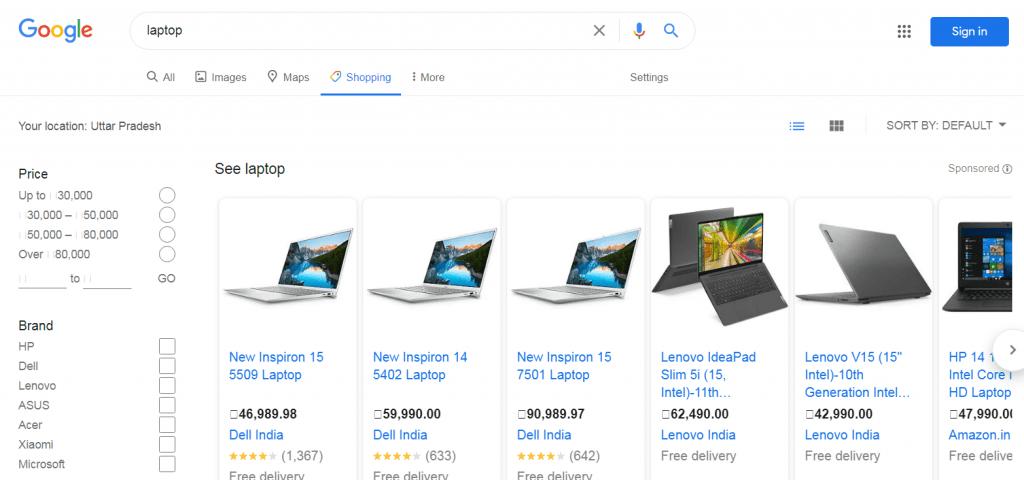 google shopping kaise kare