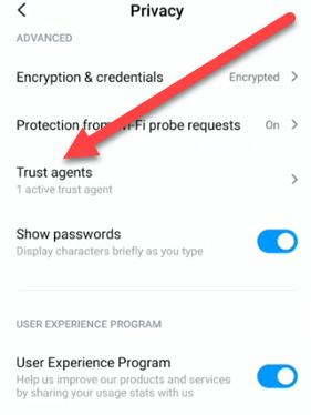 google smart lock password