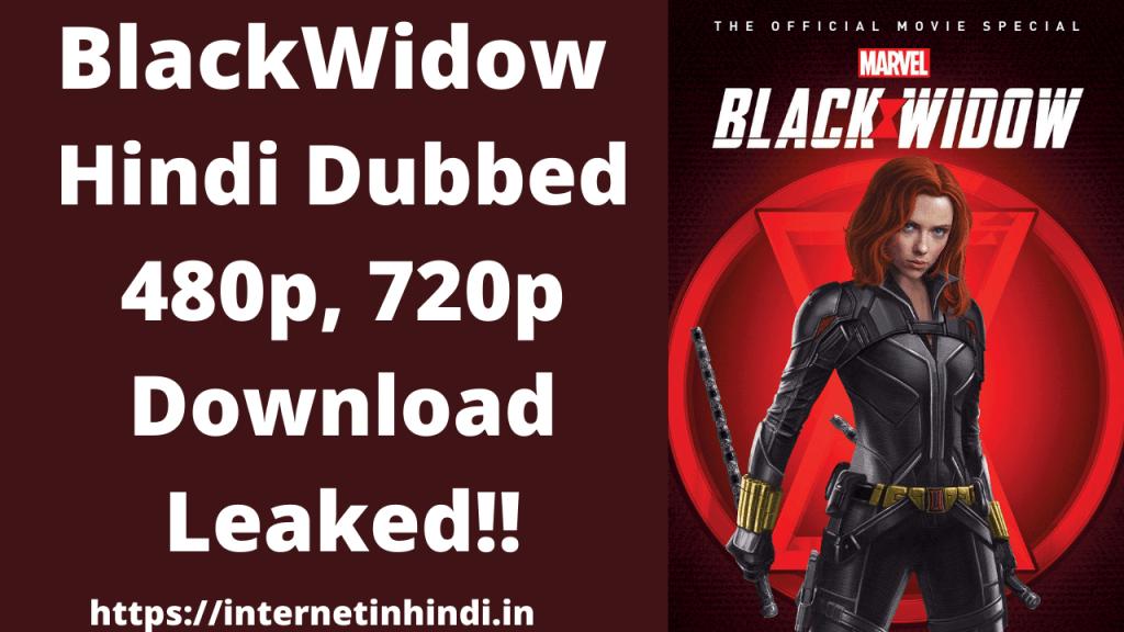 Black Widow Hindi dubbed 720p download